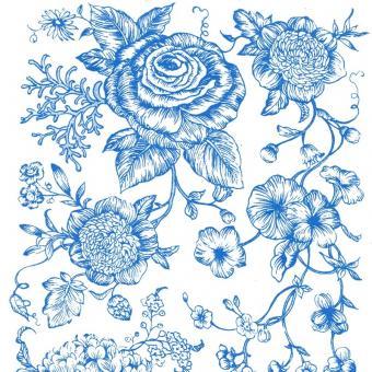 Nr. 33b Blumen 4 blau