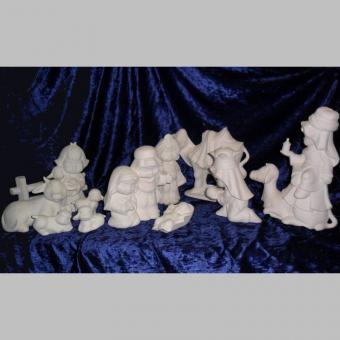 große Kinderkrippe 12 tlg., 7 - 27 cm