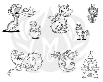 Cute Dragons Silkscreen