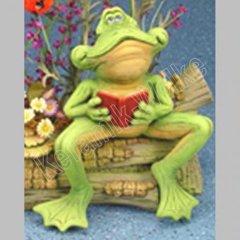 Frosch mit Buch