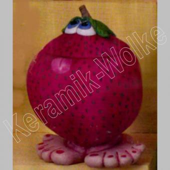 lustige Erdbeere mit Füsschen,